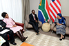 President Ellen Johnson Sirleaf of Liberia, receives a Courtesy Call from Deputy President Cyril Ramaphosa, Pretoria, South Africa, 11 August 2017.