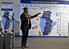 Group Executive Strategy, Development Bank of Southern Africa (DBSA), Mr Mohan Vivekanandan, speaks about DBSA support to the SADC Infrastructure Master Plan, Johannesburg, South Africa, 1 August 2017.