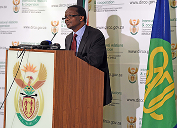 Deputy Director-General for Africa in the Department of International Relations and Cooperation, Mr Xolisa Makaya, briefing the media on South Africa's hosting of the 37th Ordinary Summit of the Southern African Development Community (SADC), scheduled to take place on 19 – 20 August 2017 in Pretoria, South Africa, 27 July 2017.