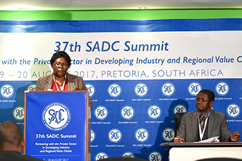 Media Briefing Session with the SADC Acting Director of Food, Agriculture and Natural Resources, Mr Bentry Chaura, ahead of the 37th SADC Summit, O R Tambo Building, Pretoria, South Africa, 11 August 2017.