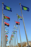 37th SADC Summit Flags at the entrance of Pretoria, South Africa, 9 - 20 August 2017.