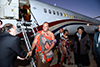 King of Swaziland, King Mswati III, arrives for the 37th SADC Summit, Waterkloof Airforce Base, Pretoria, South Africa, 17 August 2017.