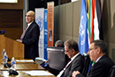 Advisor to the President of Palestine on Foreign and International Relations, Dr Nabeel Shaath, speaks at the United Nations International Day of Solidarity with the Palestinian People Seminar: The Year of O R Tambo and The Palestinian Struggle under Apartheid Rule, Pretoria, South Africa, 29 November 2017.