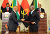 President Jacob Zuma and the President of the Republic of Angola, João Manuel Gonçalves Lourenço, witness the signing of Agreements and Memoranda of Understanding, Union Buildings, Pretoria, South Africa, 24 November 2017.