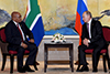 Bilateral Meeting between President Jacob Zuma and President Vladimir Putin of the Russian Federation on the sidelines of the Ninth BRICS Summit, Kempiski Hotel, Xiamen, the People's Republic of China, 4 September 2017.