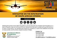 Repatriation Newsletter 14 of 11 September 2020